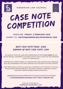 Case Note Competition 2018